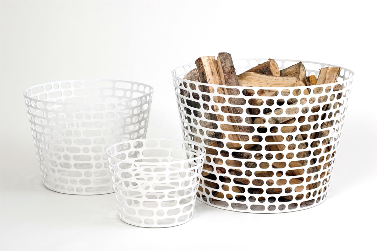 "Code <br /> Baskets in powder coated seel<br /> Produced by <a target=""blank"" href=""http://www.asplund.org/"">Asplund</a>."