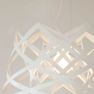 "Rut <br /> Pendent lamp in powder coated steel<br /> Produced by <a target=""blank"" href=""http://www.lujan-sicilia.com/"">Lujan+Sicilia</a>."