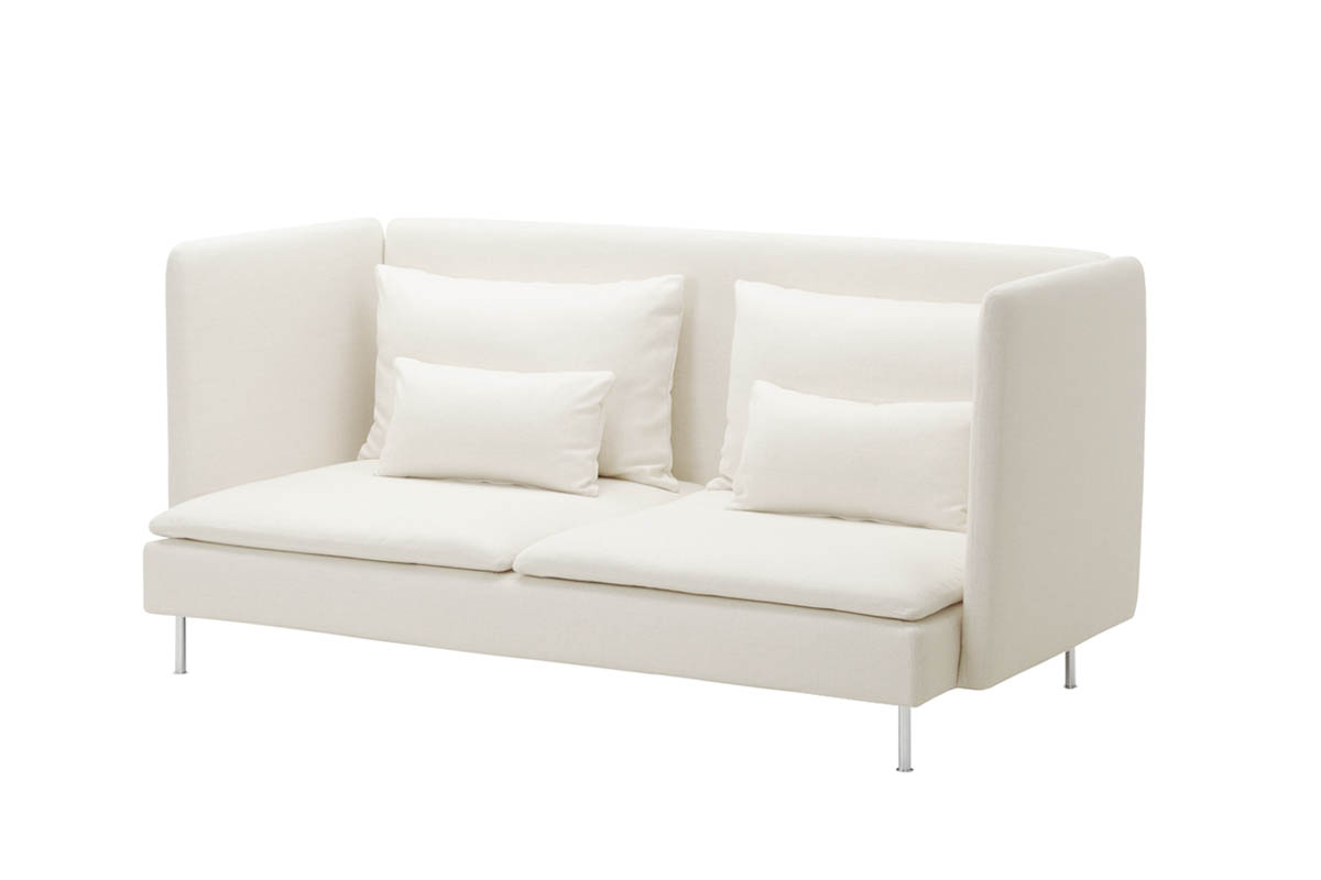 "Söderhamn <br /> A seating series with sections that can be connected in different ways or used as solitaires<br /> Produced by <a target=""blank"" href=""http://www.ikea.com/"">IKEA</a>."