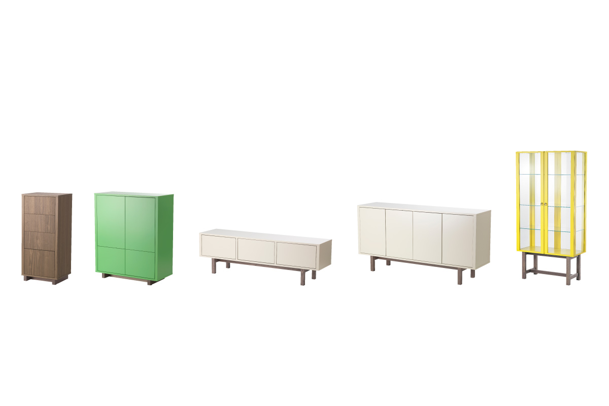 "Stockholm<br /> Storage furniture collection<br /> Produced by <a target=""blank"" href=""http://www.ikea.com/"">IKEA</a>."